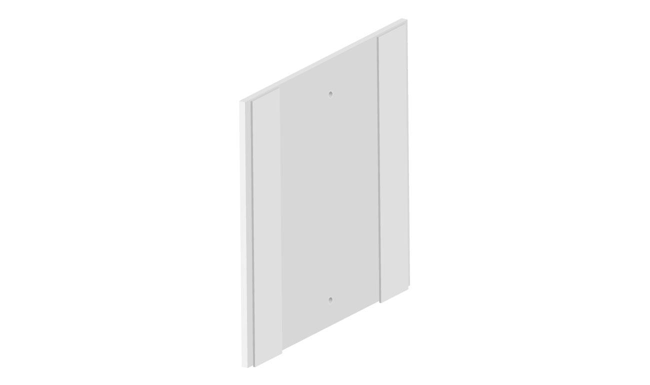 weiße Platte mit Klebestreifen rechts und links