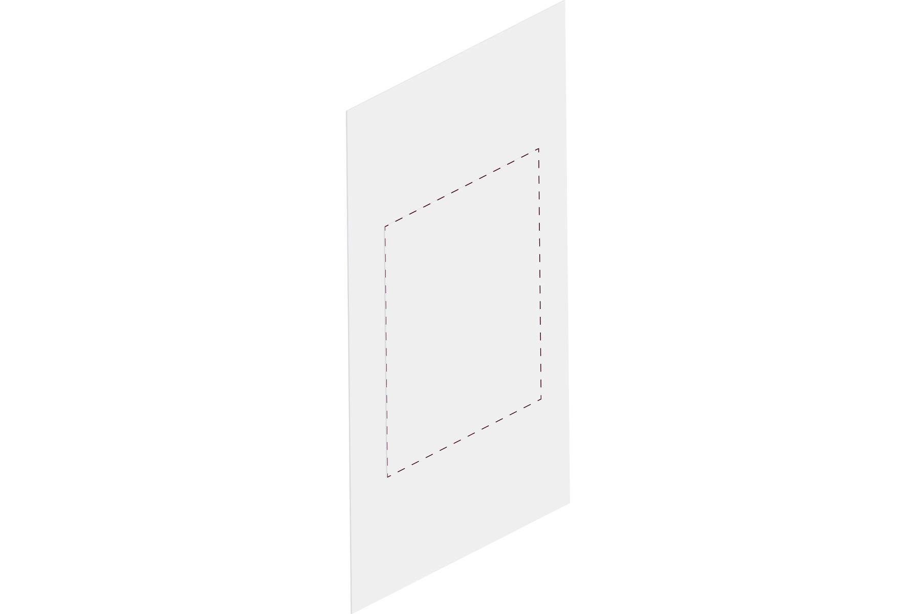 weißes Blatt mit Perforation passend für Türschilder